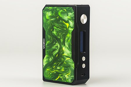 Voopoo Black Drag Resin 157W TC Box Mod - нефритовый